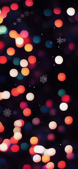 Обои на телефон амолед, черные, снег, сердце, огни, новый, каникулы, искры, amoled