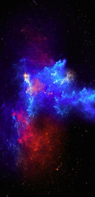 Обои на телефон аврора, туманность, сияние, синие, розовые, космос, галактика, nebulous, nebulae, galaxy