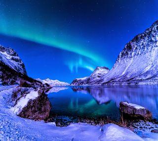 Обои на телефон спокойствие, небо, синие, природа, пейзаж, крутые, зима, горы