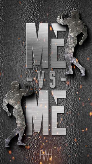 Обои на телефон против, я, черные, фитнес, серые, новый, мотивация, металл, бодибилдинг, solid, me vs me grey, grey fitness, fitness motivation