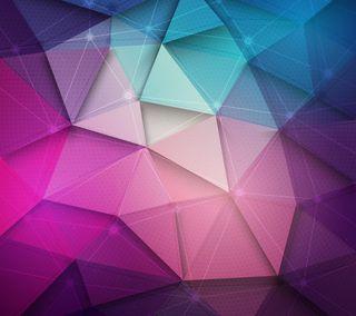 Обои на телефон 3d, абстрактные, 3д, треугольник, многоугольник