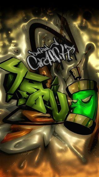 Обои на телефон граффити, цифровое, крутые, зеленые, городские, гангста, арт, qhd, art, 929