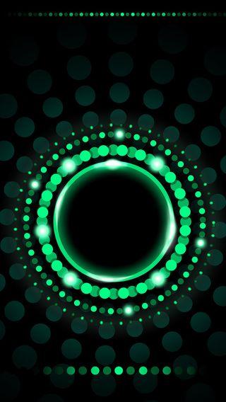 Обои на телефон точки, зеленые