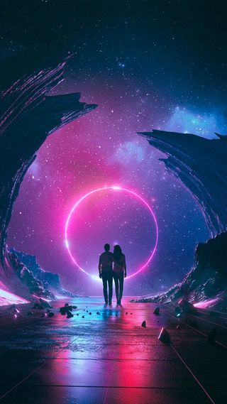Обои на телефон огни, ночь, любовь, космос, звезда, день, вселенная, валентинка, space valentine day, love, 2017