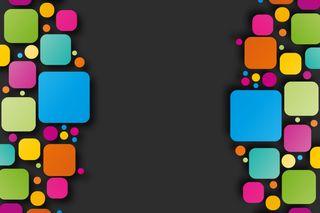Обои на телефон hd, абстрактные, цветные, пастельные, квадратные, куб, точки, геометрия, круглые