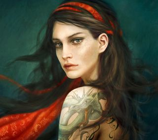 Обои на телефон татуировки, рисунки, дракон, девушки, tattoos girl, tattooed girl, dragon