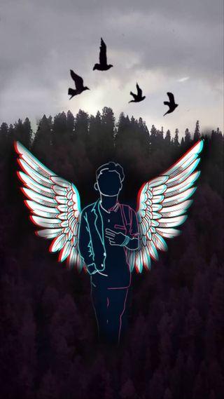 Обои на телефон рисунки, мальчик, ангел, boy angel