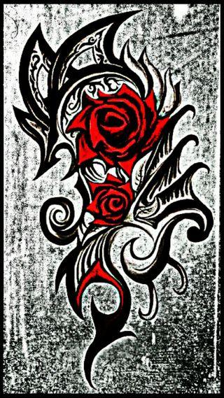 Обои на телефон тату, розы