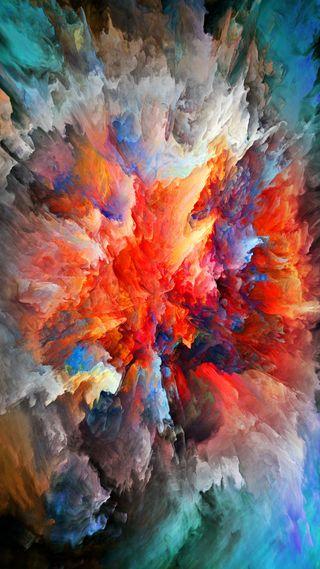 Обои на телефон взрыв, красочные, дизайн, абстрактные, 3д, 3d