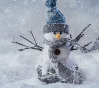 Обои на телефон холод, снег, рождество, праздник, зима, декабрь, snowing man