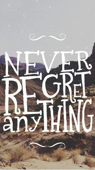 Обои на телефон никогда, regret, neverregret, hd