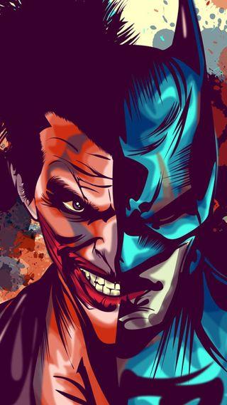 Обои на телефон против, иллюстрации, комиксы, джокер, бэтмен, batman vs joker, batjok
