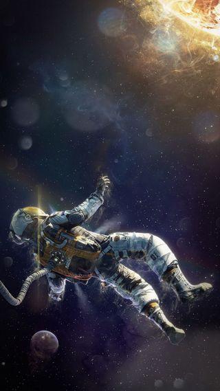 Обои на телефон космонавт, планета, наса, космос, звезда, вселенная, nasa, man, air