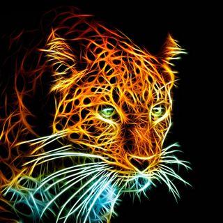 Обои на телефон фрактал, леопард, кошки, животные, абстрактные, 3д, 3d