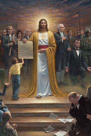 Обои на телефон исус, закон, боги, бог, lincoln, gods law, founding, fathers