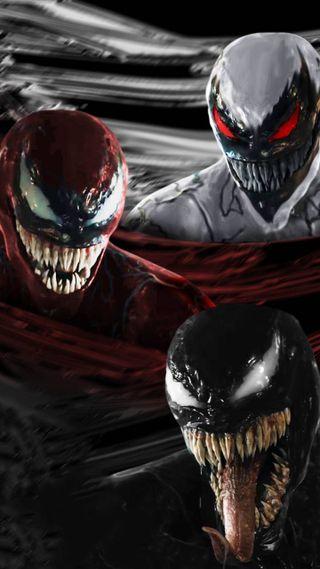 Обои на телефон фильмы, лица, веном, марвел, комиксы, venom faces, marvel