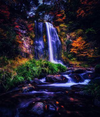 Обои на телефон rishipb, природа, синие, красые, небо, вода, естественные, водопад