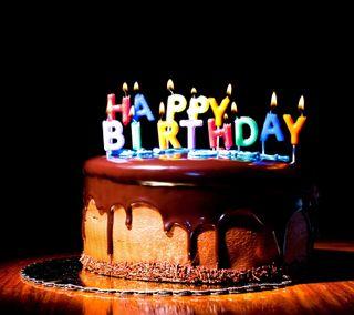 Обои на телефон шоколад, торт, счастливые, свечи