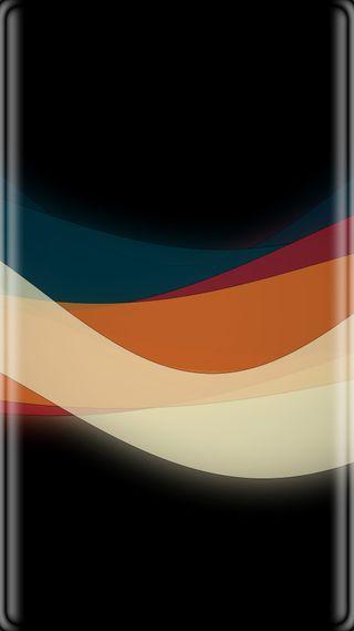 Обои на телефон черные, оранжевые, линии, красочные, грани, абстрактные, s7 edge