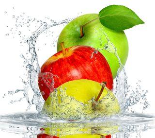 Обои на телефон фрукты, эпл, лучшие, вода, брызги, apple, appel