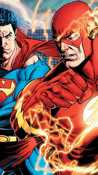 Обои на телефон анимационные, человек паук, флэш, супермен, мультфильмы, бэтмен, superman with falsh, ihone, hd, 3д, 3d