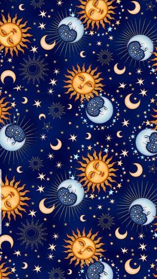 Обои на телефон солнечный, солнце, система, ночь, луна, космос, звезды, галактика, sun and moon, galaxy