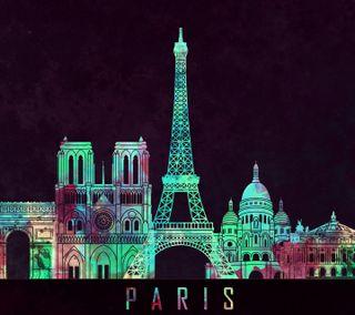 Обои на телефон франция, черные, париж, башня