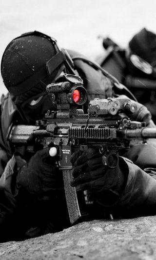 Обои на телефон снайпер, боец, оружие, армия