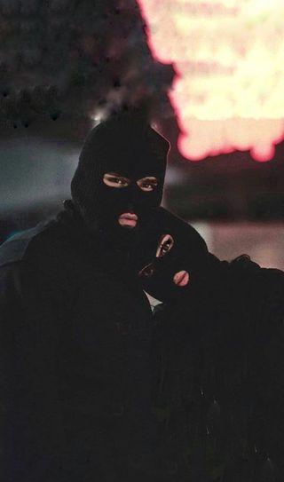 Обои на телефон банда, пара, crime, balaclava