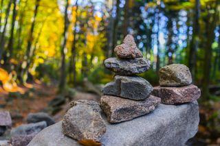 Обои на телефон размытые, природа, камни, изображение, gorest, 4k blur image, 4k