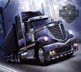 Обои на телефон грузовик, харли, harley 18 wheeler, 18 wheeler