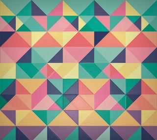 Обои на телефон треугольник, шаблон, абстрактные, angular