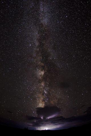 Обои на телефон гром, шторм, ночь, небо, космос, звезды, галактика, galaxy and storm, galaxy