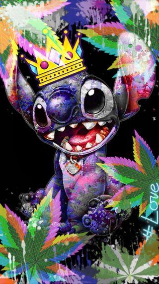 Обои на телефон стич, марихуана, doobs, doobies, dabs