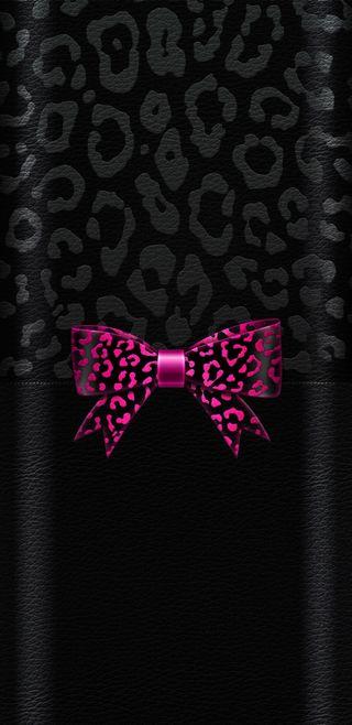 Обои на телефон черные, розовые, милые, лук, леопард, девчачие, now, leopold bow