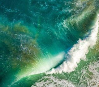Обои на телефон эпл, море, вода, ios 10, ios, apple