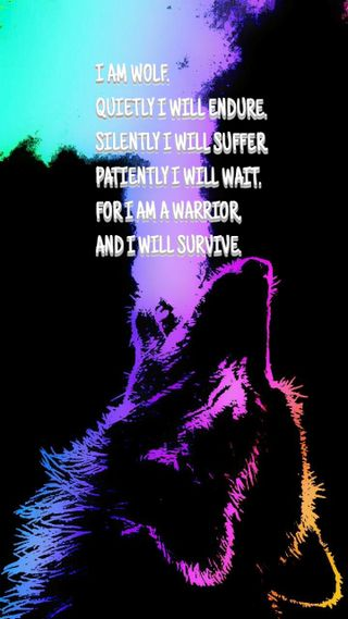 Обои на телефон цитата, прекрасные, галактика, волк, i am wolf, galaxy wolf, galaxy