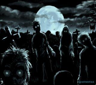 Обои на телефон зомби, атака, zombie hoard, zombie attack, graveyard, grave