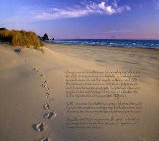 Обои на телефон религиозные, песок, молитва, знаки, духовные, другие, высказывания, footprints in sand