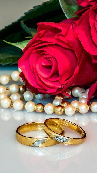 Обои на телефон макро, цветы, счастливые, случаи, свадьба, розы, любовь, кольца, каникулы, жемчуг, букет, love, jewerly, happy, groom, bride
