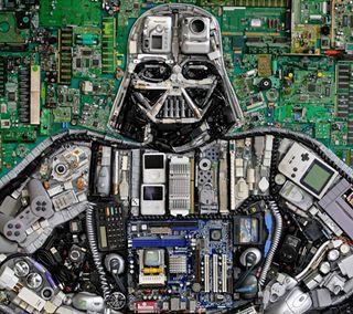Обои на телефон цпу, вейдер, технологии, микросхема, звезда, войны, star wars, device vader