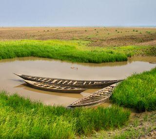 Обои на телефон страна, природа, лодки, бангладеш