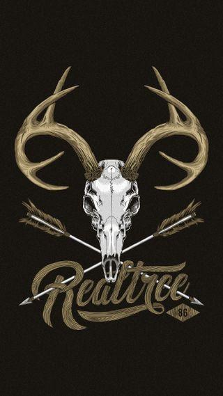 Обои на телефон череп, плохой, охотник, олень, realtree, bad