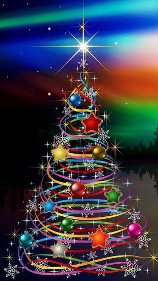 Обои на телефон украшение, дерево, рождество