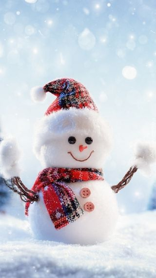 Обои на телефон каникулы, снеговик