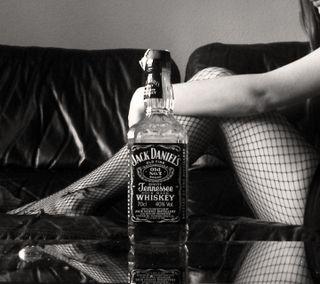 Обои на телефон напиток, черные, джек, девушки, виски, leg