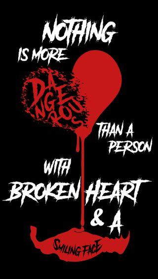 Обои на телефон сломанный, смайлики, сердце, любовь, love