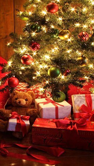 Обои на телефон подарок, счастливые, рождество, happy