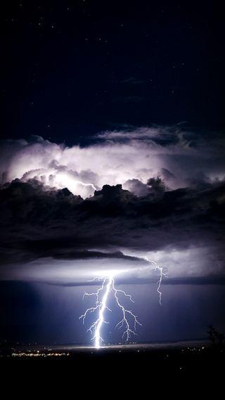 Обои на телефон шторм, синие