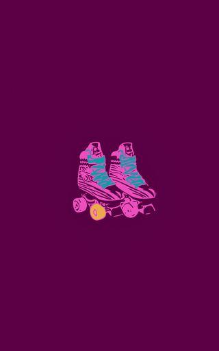 Обои на телефон скейт, луна, дисней, soyluna, soy, rollerskate, rollers, disneychannel, disney, channel